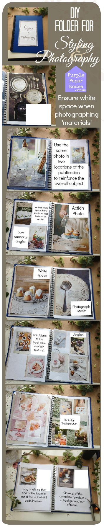 DIY Tute - Folder for Styling & photography