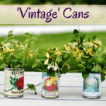 Recycled tin cans with FREE printable 'vintage' labels - aren't they just gorgeous?