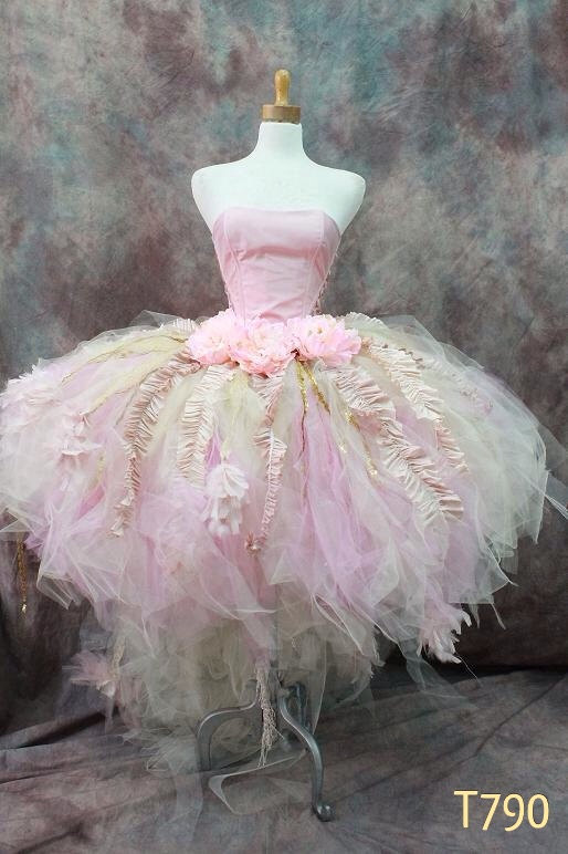 Couture Tutu Skirt with Train & Corset