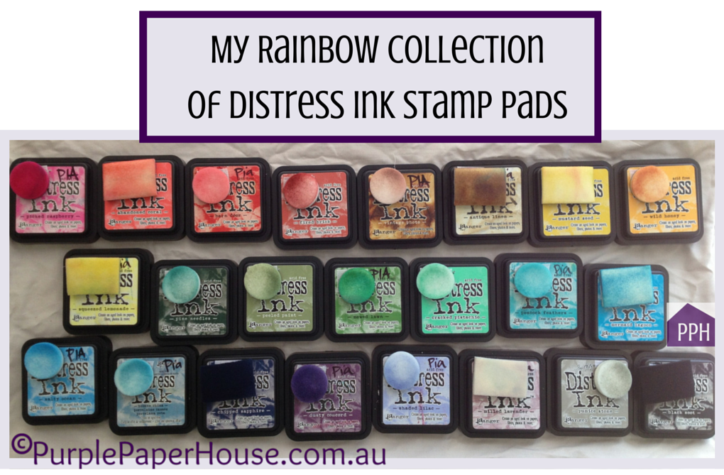Rainbow of Distress Inks