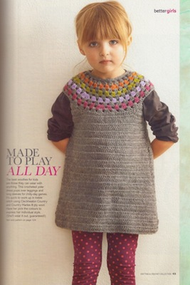 I know that it is a child's dress, but I'm going to make it taupe (skirt) and turquoise (yoke)