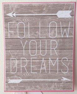 "FREE Download of ""Follow Your Dreams""  from website AKA Designs"