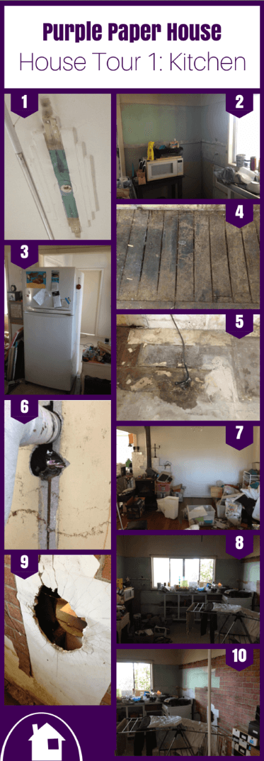 House Tour 1 of the Purple Paper House: The Kitchen Renovation