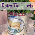Handmade 'vintage' tin cans using upcycled cans from the kitchen || Purple Paper House blog