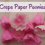 Peonies made from crepe paper - such an easy tutorial and anyone can make them