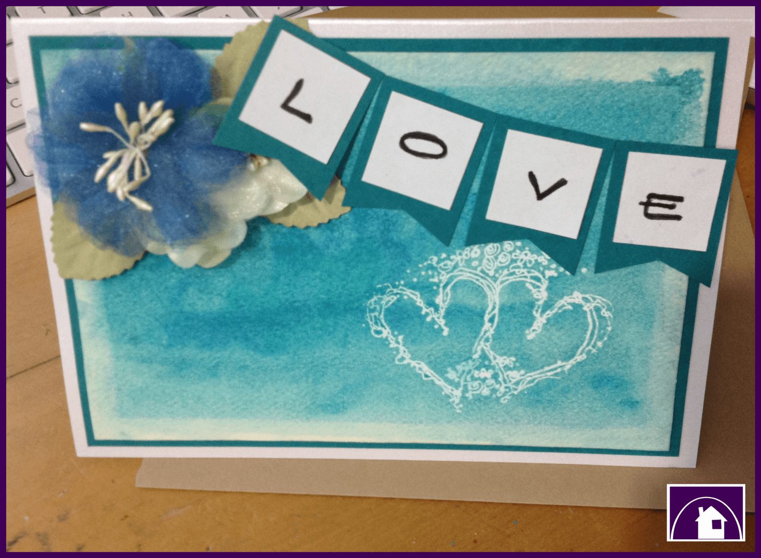 Watercolour Background for an amazing gift card - super cheap to make and  a fantastic activity for bored children in the holidays