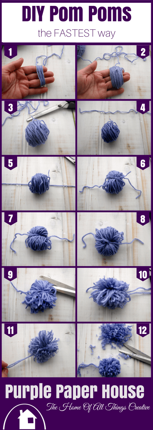 c04c43d7746 Step 13 – Keep turning the pom pom while you clip it until you are happy  with it s shape
