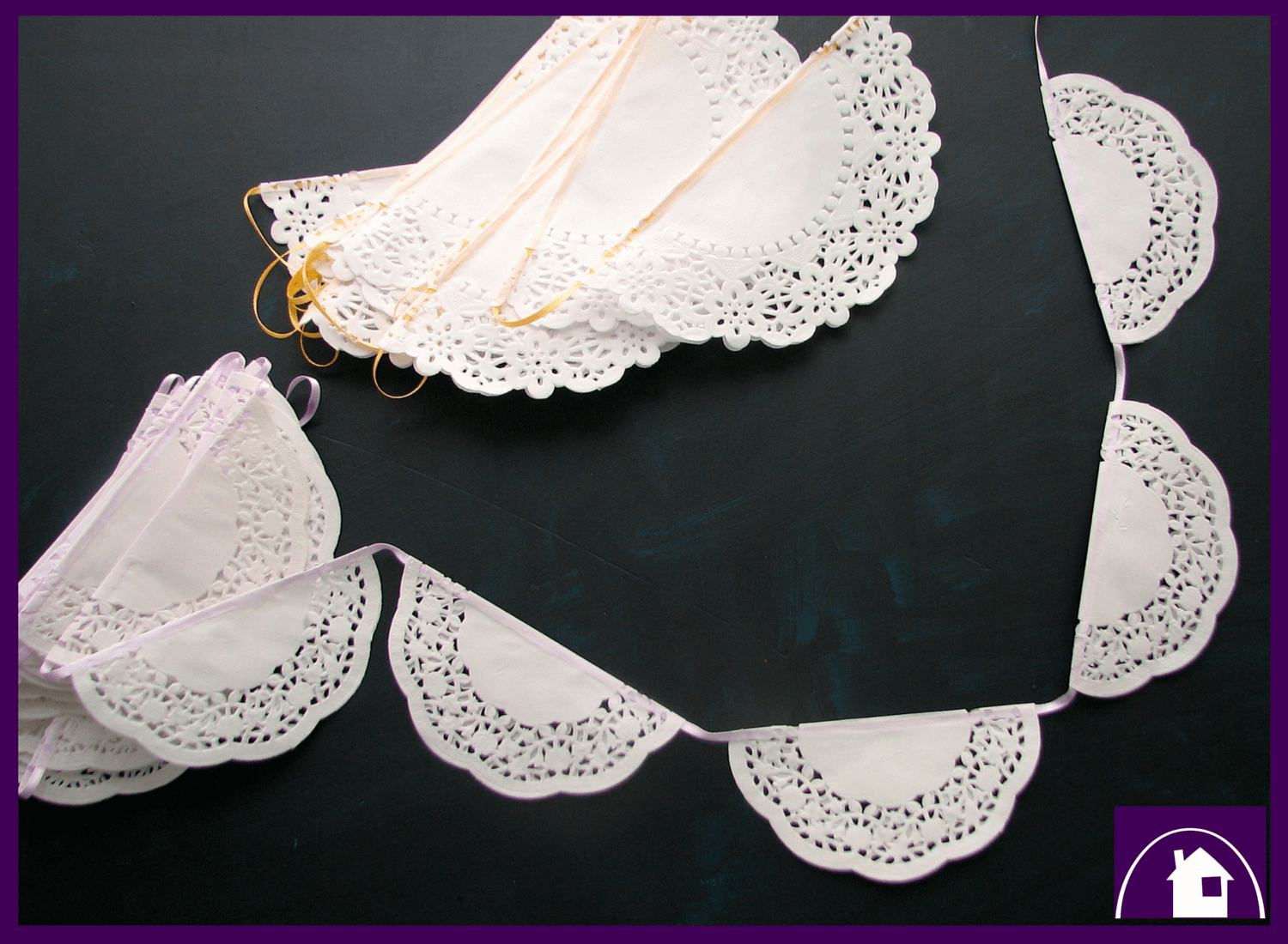 A super easy and fantastically fast DIY tutorial to make a whimsical paper doily garland