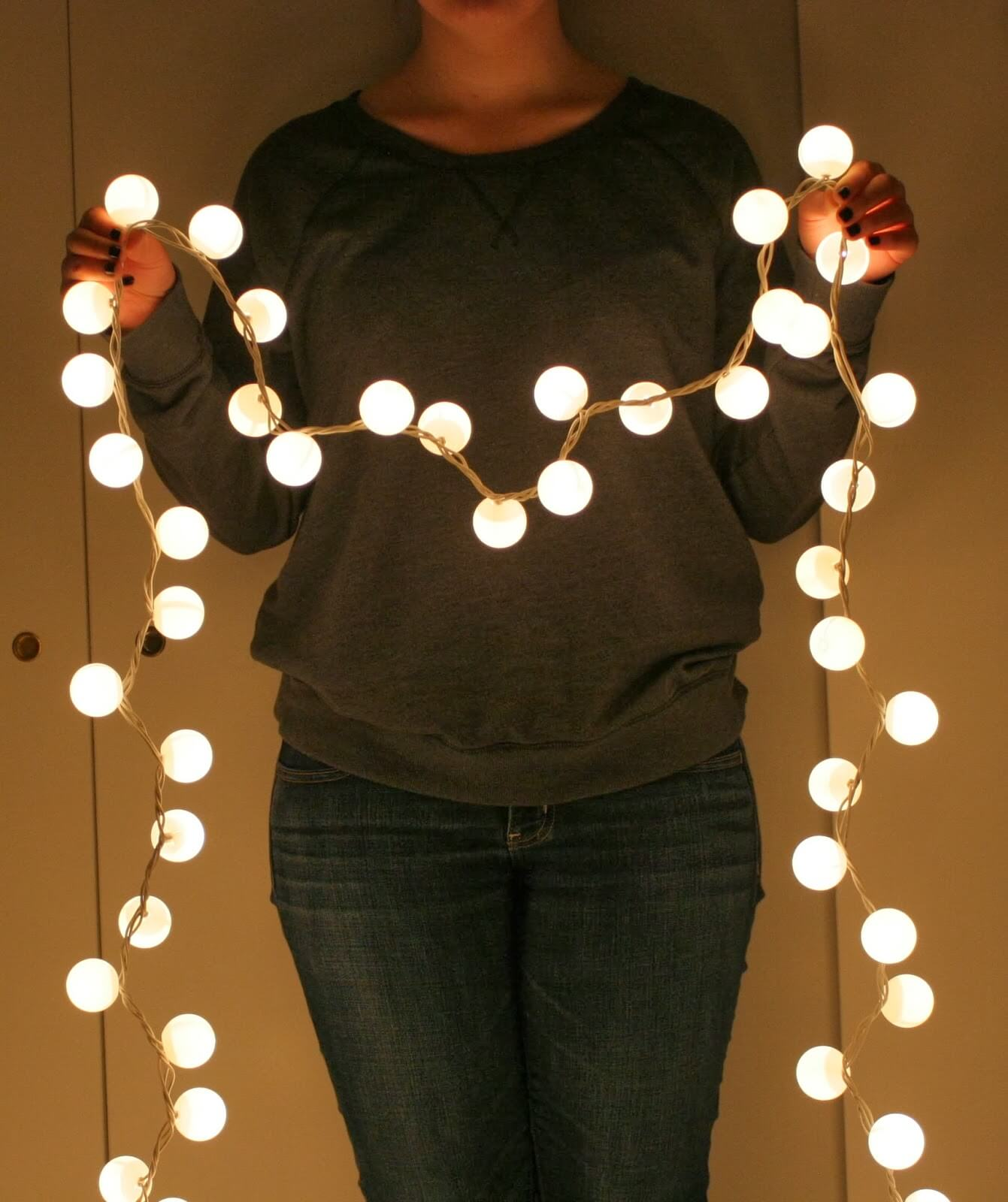 Super easy a just magical when complete - Ping Pong Fairy Lights